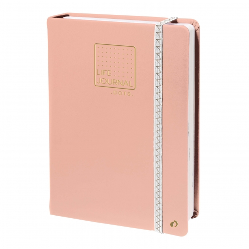 Carnet Life Journal Dots - Rose
