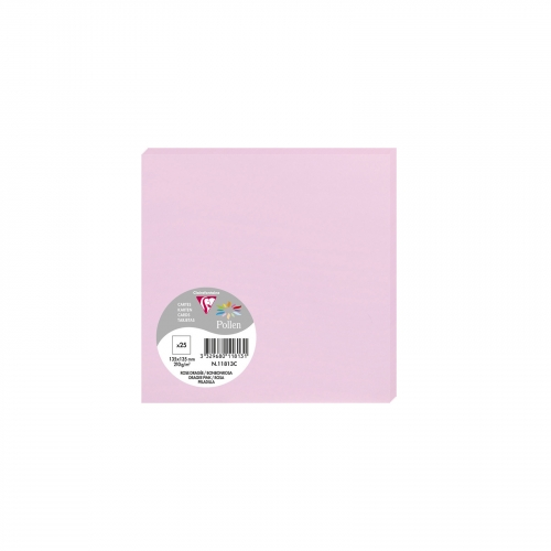 25 cartes Pollen 135x135 mm  - Rose dragée