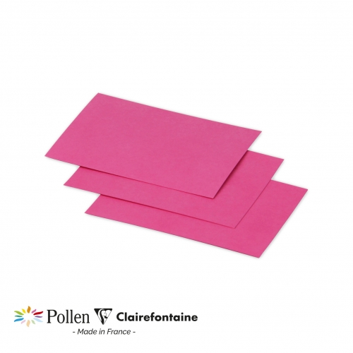 25 cartes Pollen 70x95 mm  - Rose fuchsia