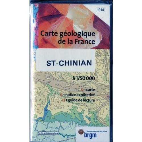 Carte géologique de la France : St-Chinian
