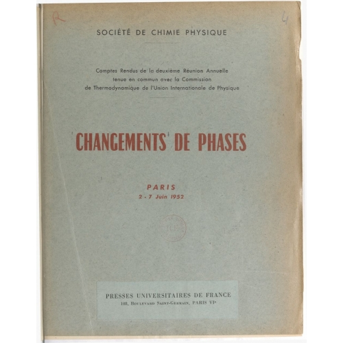 Changements de phases