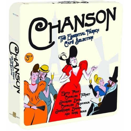 Métal Box 3 CD - « Chansons The Essential French Cafe Collection »