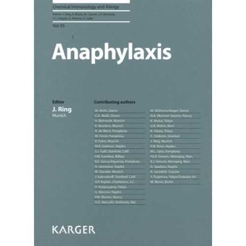 Chemical immunology and allergy - Anaphylaxis