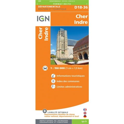 Cher Indre - 1/150 000