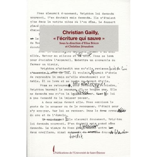 "Christian Gailly, ""l'écriture qui sauve"""