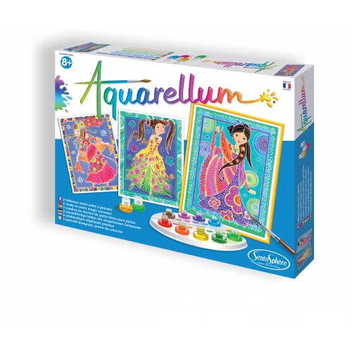 Coffret Aquarellum - Glamour girls