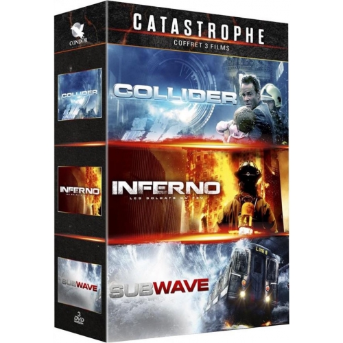 COFFRET CATASTROPHE 3 FILMS : INFERNO SUBWAVE  COLIDER