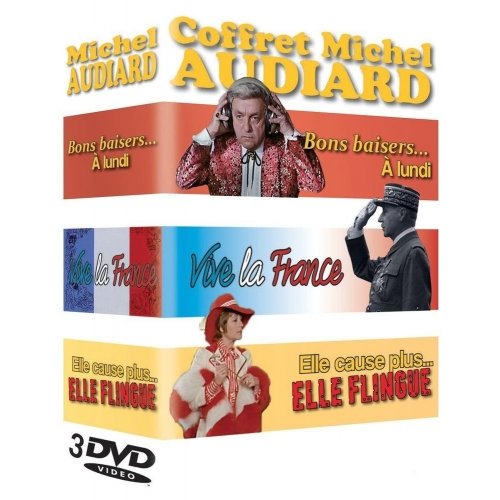 COFFRET MICHEL AUDIARD : ELLE CAUSE PLUS... ELLE FLINGUE  BONS BAISERS...A LUND