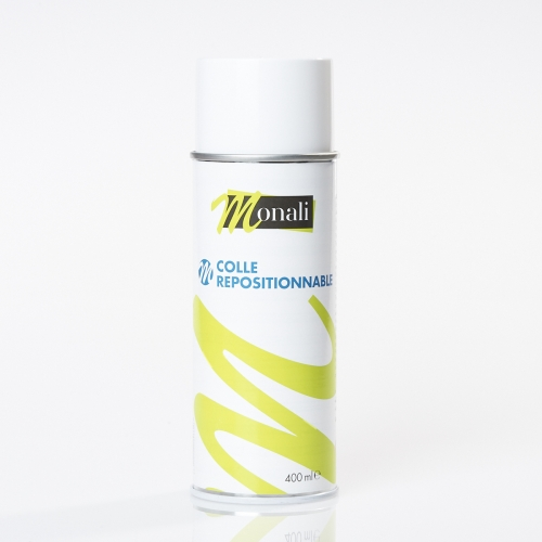 Colle repositionnable en bombe aérosol - 400ml - Monali