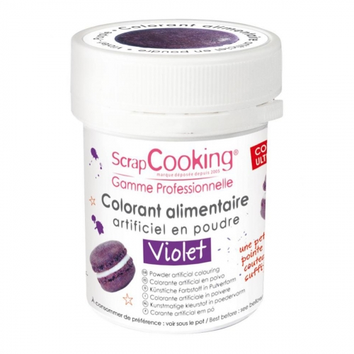 Colorant artificiel en poudre - violet - 5g - Scrapcooking