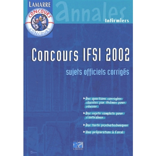 Concours IFSI 2001/2002 Pack 2 volumes. - Annales