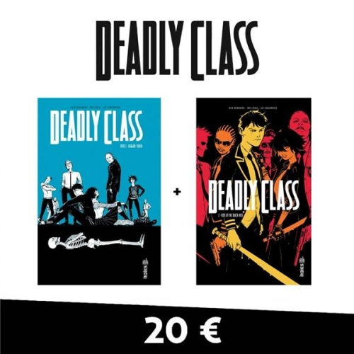 Deadly Class - Pack en 2 volumes : Tome 1, Reagan Youth ; Tome 2, Kids of the Black Hole