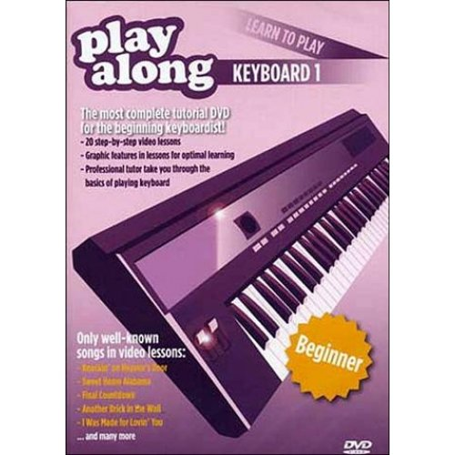 DVD PLAY ALONG LEARN TO PLAY KEYBOARD 1 BEGINNER