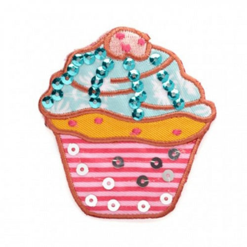 Ecusson thermocollant - Cupcake bleu