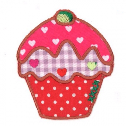 Ecusson thermocollant - Cupcake rose