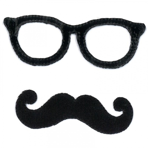 Ecusson thermocollant - Lunette moustache