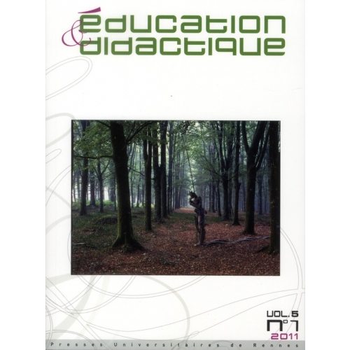 Education & didactique Volume 5 N° 1, Avril 2011