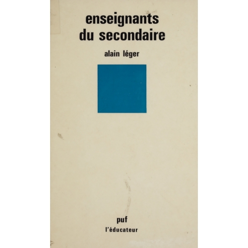 Enseignants du secondaire