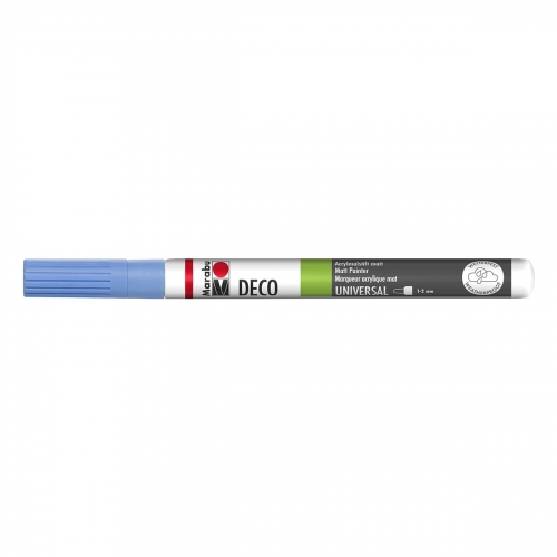 Feutre - Deco painter matt - Bleu Pastel Mat - 1 - 2 mm - Marabu
