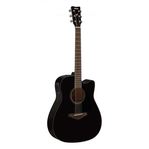 Yamaha - GFGX800CBL black - guitare folk électro-acoustique