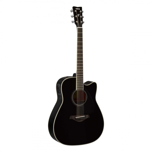 Yamaha - GFGX820CBL black - guitare folk électro-acoustique