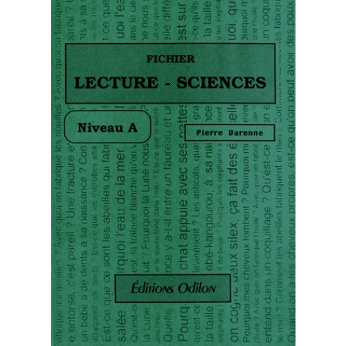 Fichier Lecture-Sciences - Niveau A