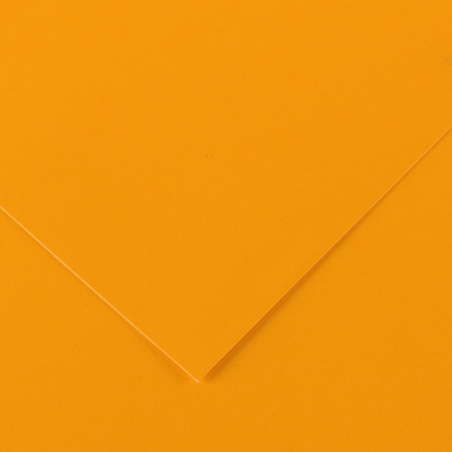 Feuille Vivaldi - 50x65cm - 250g - orange fluo