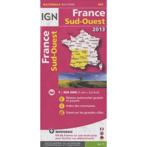 France Sud-Ouest - 1/350 000