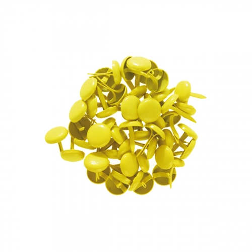 Lot 50 attaches parisiennes - 8 mm - jaune