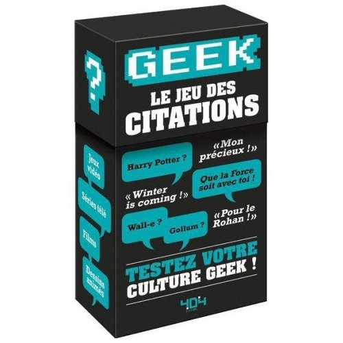 Geek Le Jeu Des Citations