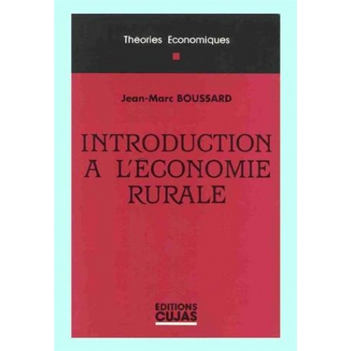 INTRODUCTION A L'ECONOMIE RURALE
