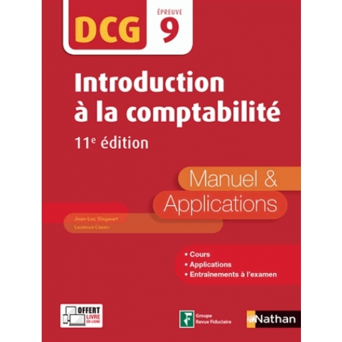 Introduction à la comptabilité DCG 9 - Manuel & applications