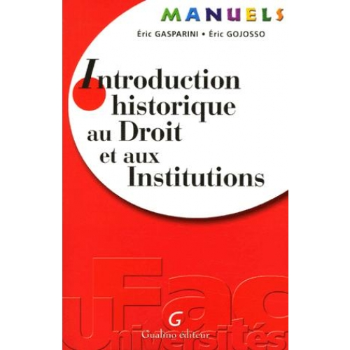 Introduction historique au Droit et aux Institutions