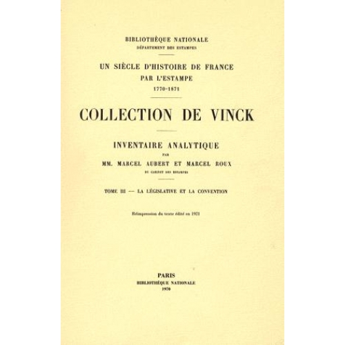 Inventaire analytique de la collection De Vinck