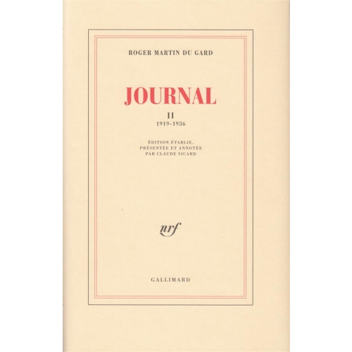 Journal - Tome 2, 1919-1936