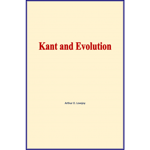 Kant and Evolution