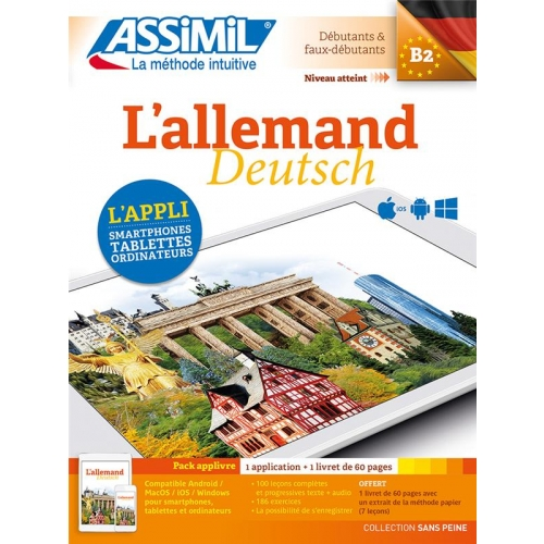 L'allemand B2 - Pack applivre : 1 application + 1 livret de 60 pages