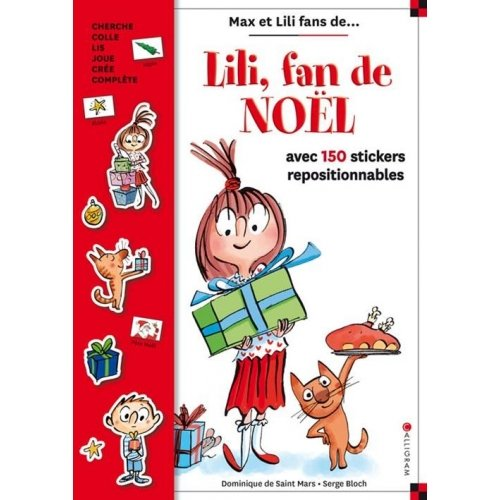Lili fan de Noël : livre stickers