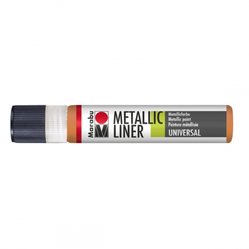 Peinture - Metallic Liner - Orange Métal - 25 ml - Marabu