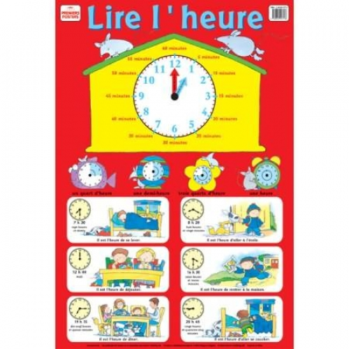 Lire l'heure - Poster