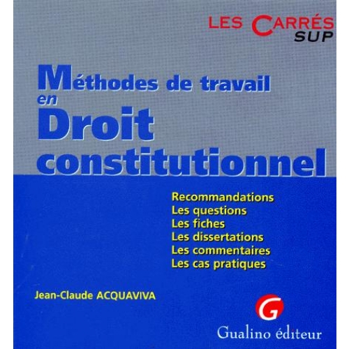 exemple dissertation droit constitutionnel