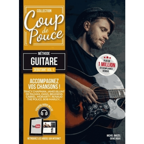 coup de pouce m thode guitare volume 1 instruments de musique guitare basse cultura. Black Bedroom Furniture Sets. Home Design Ideas