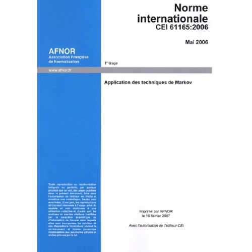 Norme internationale CEI 61165
