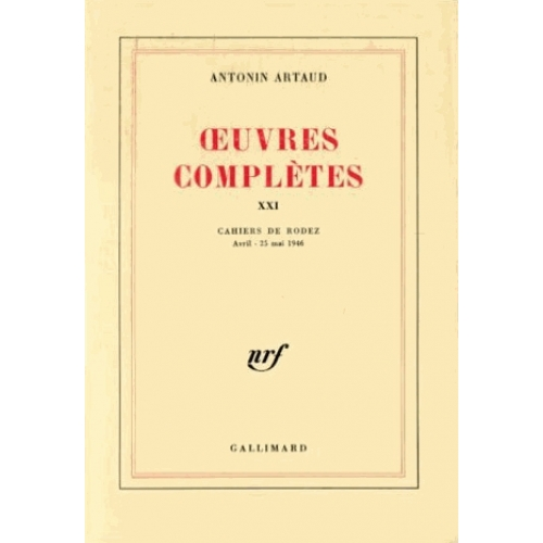 OEUVRES COMPLETES. Tome 21