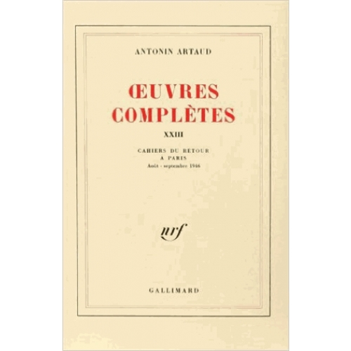 OEUVRES COMPLETES. Tome 23