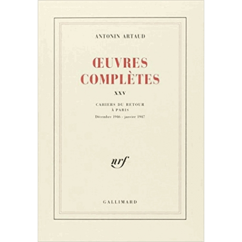 OEUVRES COMPLETES. Tome 25