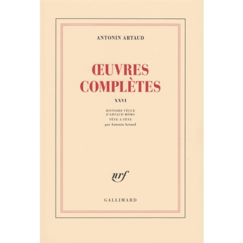 OEUVRES COMPLETES. Tome 26