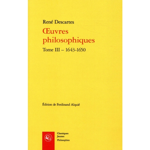 Oeuvres philosophiques - Tome 3