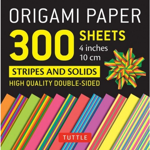 ORIGAMI PAPERS 300 SHEETS STRIPES AND SOLIDS