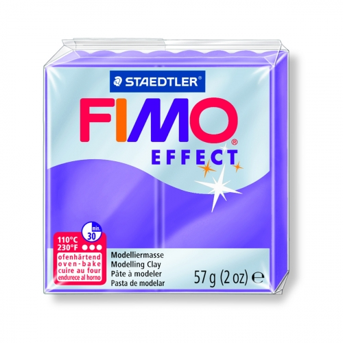FIMO EFFECT - lilas translucide - n°604 - 57g